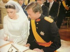 Wedding of Henri, Hereditary Grand Duke of Luxembourg & Maria Theresa Batista Falla Mestre now Grand Duchess Maria Theresa and Grand Duke Henri of Luxembourg