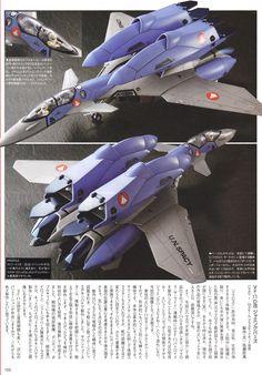 MECHA GUY: Hasegawa 1/72 Macross VF-11D Custom Jamming Birds - Painted Build