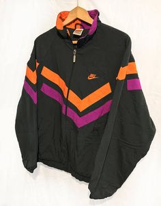 Vintage Nike Quilted Jacket Neon Orange
