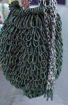 Ravelry: Audra Bead Crochet Bag pattern by Carol Cathey free Beaded Purses, Beaded Bags, Crochet Purses, Potli Bags, Patchwork Bags, Fabric Bags, Bead Crochet, Crochet Flowers, Purses And Handbags
