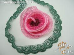 Flor de Crochê Rendada