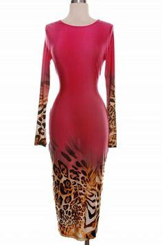 http://www.sydiachic.com/collections/dresses/products/animal-print-bodycon-dress-pink