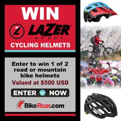 Enter to win 1 of 2 Laser Sport cycling helmets, Z1 MIPS road and Revolution MIPS mountain bike, in BikeRoar's contest!