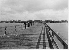 The Huntington Beach pier before it was blown down in 1911.  Re-opening the pier in 1914 and how Wintersburg's Japanese American community played a role, http://historicwintersburg.blogspot.com/2014/06/rebuilding-pier-in-1914.html