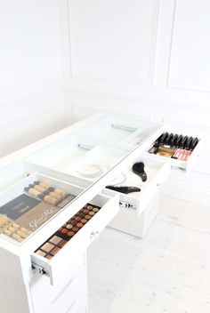got all the makeup goals and nowhere to store your pride and joy well girls get ready to slay with our new slaystation table top