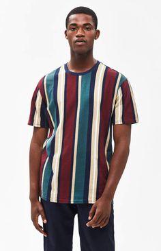 Loose T Shirt,Vintage Striped Grid Art Fashion Personality Customization