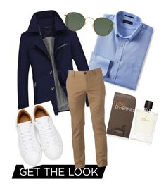 """""""MALE STYLE"""" by connieimageconsultant on Polyvore featuring Lands' End, Urban Pipeline, Marc Jacobs, Ray-Ban, Hermès, men's fashion and menswear"""