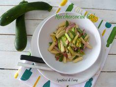 Vuoi una ricettina sciuè-sciuè con delle buone #zucchine tenere e di #stagione? Magari con i #maccheroncini fatti al #ferretto? Eccola: http://www.ipasticciditerry.com/maccheroncini-zucchine-e-speck/