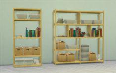 Dorm Bookshelves at Veranka via Sims 4 Updates