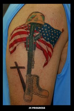 Fallen Soldier with Flag Tribute Navy Tattoos, Tatoos, Fallen Soldier Memorial, Airborne Tattoos, Marine Corps Tattoos, Batman Drawing, Patriotic Tattoos, Military Tattoos, I Cool