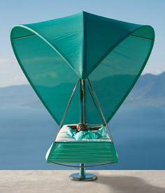 Wave & Surf: double garden canopy sun lounger by Royal Botania Outdoor Hammock, Hammock Chair, Hammock Stand, Hammocks, Outdoor Lounge, Hammock Ideas, Chair Swing, Outdoor Daybed, Royal Botania
