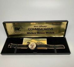 Vintage, Walt Disney Bradley Commemorative Mickey Mouse Watch 50 Happy Years.  | eBay