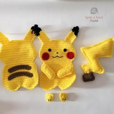 Hi, friends! A while back, my 3 year-old niece made a special request for an Elsa doll. Pokemon Crochet Pattern, Pikachu Crochet, Crochet Applique Patterns Free, Kawaii Crochet, Crochet Diy, Crochet Patterns Amigurumi, Crochet Crafts, Crochet Dolls, Crochet Projects