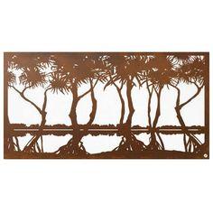 Pandanus Wetland - Metal wall art - Products