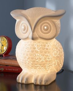 Owl Porcelain Lamp | cute nursery night light