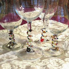 Wine glass charms again
