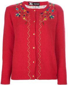 Kansai Yamamoto Vintage embroidered cardigan on shopstyle.co.uk