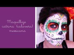Un maquillaje muy divertido y una variación muy original del típico disfraz de calavera: Catrina (calavera) Mexicana. Inténtalo este halloween.