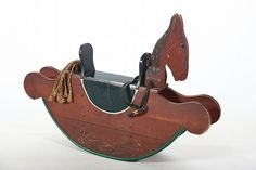 Vintage Folk Art Toy Rocking Horse