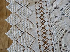 Hand crocheted French bedcover vintage white bed by Histoires