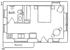 Strawbale Country Guesthouse Guest House Plans, Tiny House Plans, Cabin Plans, Student House, Straw Bales, Hip Roof, Earth Homes, Future House, Floor Plans