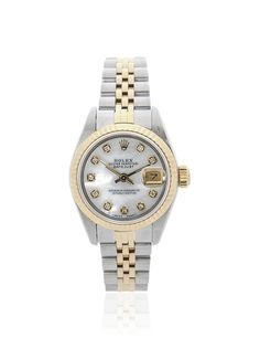 Rolex Women's Lady Datejust Stainless Steel/18K Yellow Gold MOP Watch at MYHABIT