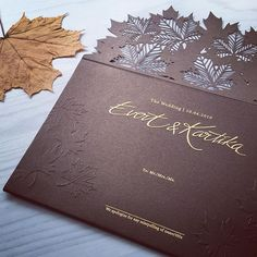 Rustic theme wedding invitation with maple lasercut | Lovely Card | http://www.bridestory.com/lovely-card/instagram