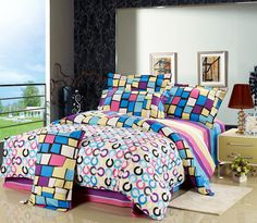 House Beauty | homewares | hot!! 100%Cotton four pieces bedding set