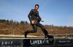 Roger Federer on boa