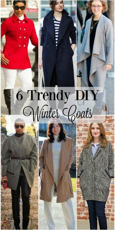 These 6 trendy winter wool coats weren't purchase. Each of these DIY coats were sewn by the sewing blogger wearing the garment.