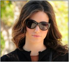 9050859f81f Emmy Rossum in the Dita Savoy Sunglasses Emmy Rossum