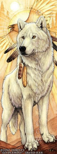 "Native American Artists Paintings | Dawn Spirit's Flight"" by Christy ""Goldenwolf"" Grandjean. Watercolor ..."