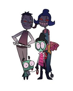 Read 🌹💚- 14 -💚🌹 from the story Comics Traducidos,¡ALIENS!,Y Cerditos👽 by scaredofbeens (Alexandroso😢👌) with 347 reads. Cartoon Movies, Cartoon Art, Aliens, Invader Zim Dib, Character Art, Character Design, Invader Zim Characters, Fan Art, Ship Art