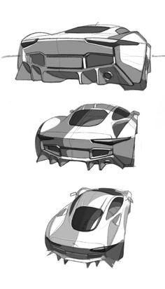 "2013 | Jaguar C-X75 Hybrid Prototype | 16′Sketch by Anton Guzhov (KISKA Design Team) "" Testing iPad Pro. Cool Tool. "" Great thanks for exclusive material to  Anton Guzhov."