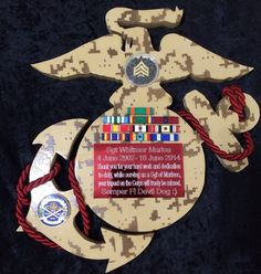 USMC plaque  Questions on design or price contact Lunawood1775@gmail.com