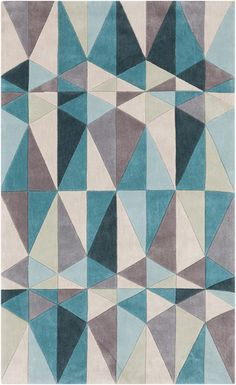 Cosmopolitan Rug by Surya gives off a mid-century modern vibe. (COS-9169)
