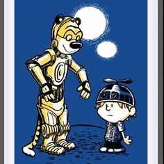 Calvin and Hobbes Star Wars Edition /by ??  #StarWars #art