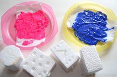 stamping with styrofoam