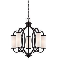 Designers Fountain Bellemeade 5 Light Chandelier in Artisan 84485-ART #lighting