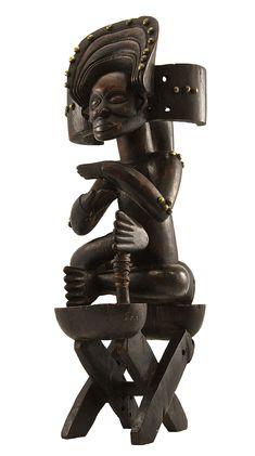 Chokwe Mwanangana (Figure of Chief), Angola http://www.imodara.com/post/94092186664/angola-chokwe-mwanangana-chief-figure