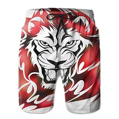 98e0c865904cf5 Yesliy Lion Leisure Men Summer Surfing Quick-Drying Swim Trunks Shorts  Beach Pants with Pocket