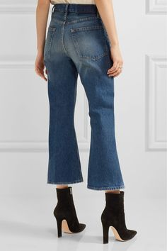 FRAME - Rigid Re-release Le Cropped High-rise Slim-leg Jeans - Mid denim - 23