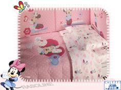 COMFORTER TRAPUNTA E PARACOLPI PER LETTINO MINNIE BABY DISNEY BY CALEFFI DISPONIBILE IN TRE COLORI - Rasoline L.F.D. Home