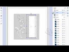 brother scan n cut tutorials Elegant butterfly and floral border card with aperture - YouTube