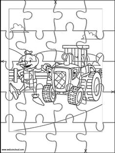 Printable jigsaw puzzles to cut out for kids Bob the Builder 31 Coloring Pages