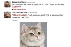 Cassandra Clare answers questions about City of Heavenly Fire... I have a feeling I am going to have a love/hate relationship with this book...
