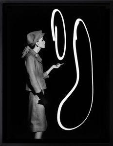Dorothy blowing light smoke rings, Paris