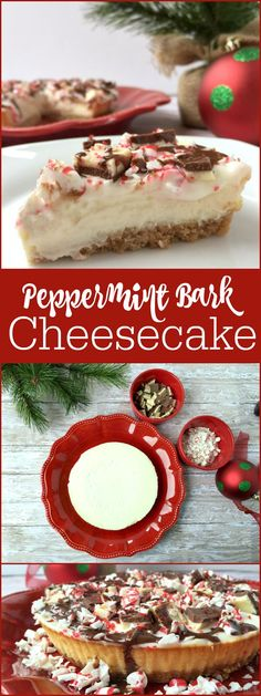 Chocolate Peppermint Bark Cheesecake Recipe. A fun and easy holiday recipe to make with the kids. AD #joytothemeal