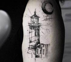 Lighthouse tattoo by Kamil Mokot | Post 20484