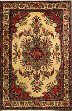 "Tabriz Persian Rug, Buy Handmade Tabriz Persian Rug 6' 11"" x 10' 5"", Authentic Persian Rug"